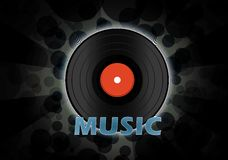 Vinyl disc wallpaper Royalty Free Stock Photo