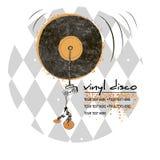 Vinyl disco emblem stock photos