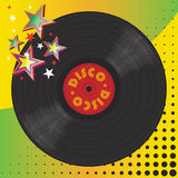 Vinyl disco music plate. With art background Stock Photography