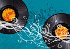 Vinyl discs Royalty Free Stock Photo
