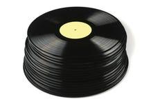 Vinyl discs on white background Stock Photography