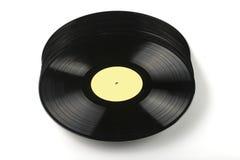 Vinyl discs on white background Royalty Free Stock Images