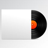 Vinyl disk with blank cover Royalty Free Stock Images