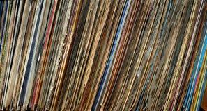 Vinyl disk cover texture Stock Photos