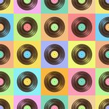 Vinyl color pattern Royalty Free Stock Image