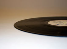 Vinyl ellipse. Close up of a vinyl record royalty free stock photography