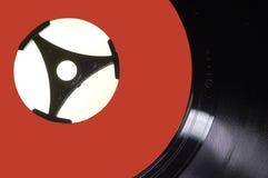 Vinyl Enig met rood etiket Royalty-vrije Stock Afbeeldingen