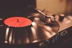 vinyl för bildspelareraster Arkivfoto