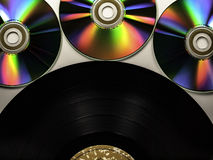 Vinyl fight back. Vinyl record pushing back against Cd's Stock Photo