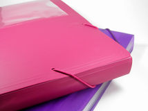 Vinyl Folders. Colorful plastic/vinyl folders with elastic bindings. For school or business Royalty Free Stock Images