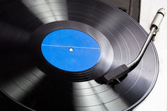 Vinyl on a gramophone Stock Images