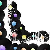 Vinyl grungy corner background Stock Image