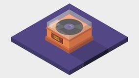Vinyl isometrisch Stockfotos