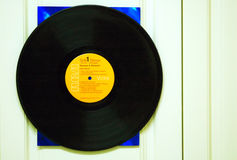 Vinyl-Langspielplatte-Satz stockbild