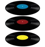 Vinyl lp record album disc long play disk red blue Stock Images