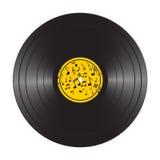 Vinyl LP record disc. Black musical vinyl album disc. Realistic retro template  on white Stock Image
