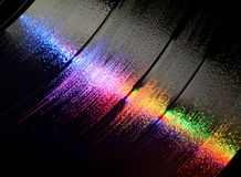 Vinyl LP record grooves Stock Images