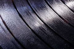Vinyl LP Record grooves for musical background I royalty free stock photography