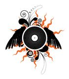 Vinyl LP record with wings Royalty Free Stock Image