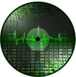 Vinyl met een abstracte achtergrond. Stock Illustratie