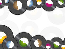 Vinyl music background Royalty Free Stock Image