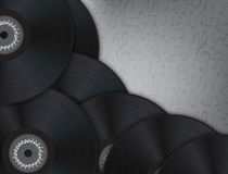 Vinyl Music Background Royalty Free Stock Photo