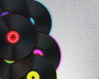 Vinyl Music Background Stock Photos