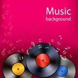 Vinyl music background stock illustration