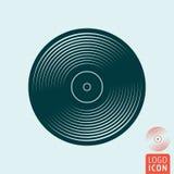 Vinyl music plate icon Stock Photography