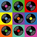 Vinyl music pop art colorful pattern royalty free illustration