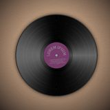 Vinyl music record. Template with background. Vector illustration Royalty Free Stock Photos