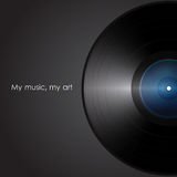 Vinyl. my music my art. vector Royalty Free Stock Images