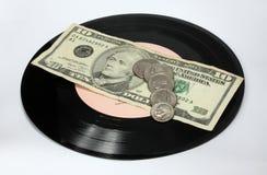 Vinyl och pengar Royaltyfria Bilder