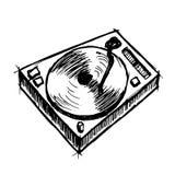 Vinyl op witte achtergrond Royalty-vrije Stock Afbeelding
