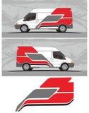 Vinyl & Overdrukplaatjes voor Auto, bestelwagen, vrachtwagen het Rennen Voertuiggrafiek in geïsoleerd formaat royalty-vrije illustratie