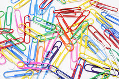 Vinyl Paper Clips Stock Photography