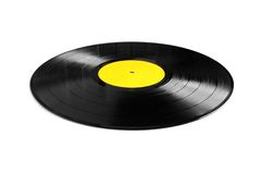 Vinyl plate isolated Royalty Free Stock Photos