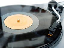 Vinyl platenspeler en naald Stock Foto's