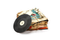 Vinyl plates Royalty Free Stock Photography