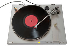 Vinyl player. Isolated on white background Royalty Free Stock Image