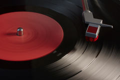 Vinyl player. Vintage vinyl player, retro sound Royalty Free Stock Photos