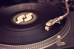 Vinyl player. Close up photo Royalty Free Stock Image