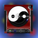 Vinyl player with plate royalty free illustration