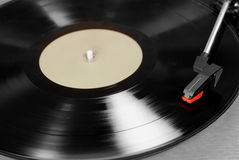 Vinyl player with a vinyl disk Stock Images