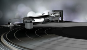 Vinyl player with a vinyl disk Stock Photo