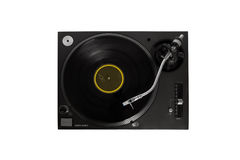 Vinyl player on white. Vinyl player on isolated white Royalty Free Stock Photo