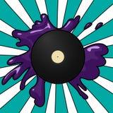 Vinyl pop background Stock Image