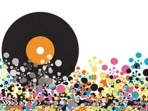 Vinyl pops disco dots Stock Image