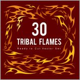 Vinyl ready fire flames set. Great for vehicle graphics and T-shirt decals Royalty Free Stock Photography