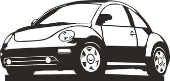 Vinyl ready new beetle Royalty Free Stock Images